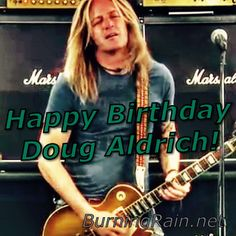 Happy birthday Doug Aldrich 2015