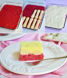 Meggyes-vaníliás álom - sütés nélkül Creative Cakes, Tiramisu, Ale, Panna Cotta, Cake Recipes, Cheesecake, Tasty, Ethnic Recipes, Food