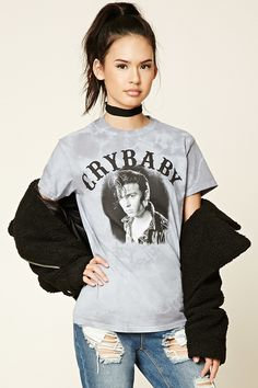 FOREVER 21+ Crybaby Graphic Tie-Dye Tee