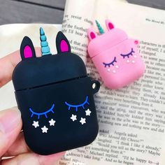 Silicon Case for Airpods 2 Airpods Case Cute Unicorn Pink Cartoon Protective Cover Wireless Earphone Case for Airpods Cover Cute Ipod Cases, Girly Phone Cases, Iphone Cases, Unicorn Gifts, Cute Unicorn, Unicorn Phone Case, Unicorn Coffee Mug, Cute Headphones, Accessoires Iphone