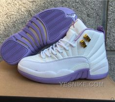 """Find 2016 Air Jordan 12 GS """"Dark Purple Dust"""" White Purple For Sale New  Arrival online or in Footlocker. Shop Top Brands and the latest styles 2016  Air ... 27eb91322"""