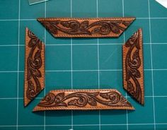 make a frame from an old leather belt...this would look good as a topper on an old barnwood frame to dress it up a bit...