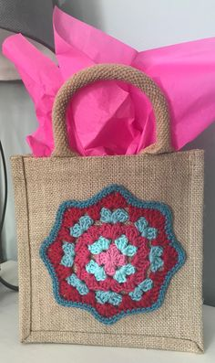 Used this cute doily to decorate a bag Pattern from: sweet_sharna Doilies, Annie, Burlap, Reusable Tote Bags, Sweet, Cute, Pattern, Diy, Decor