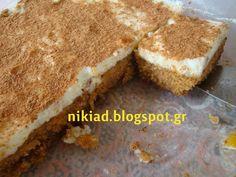Χειροτεχνήματα: σιμιγδαλένιος χαλβάς φούρνου με κρέμα μιλφέιγ