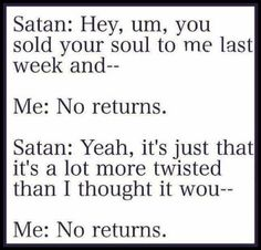 No returns!