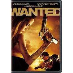 """Wanted DVD Angelina Jolie Morgan Freeman James McAvoy Full Screen Action NEW 