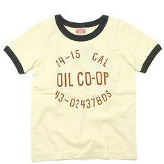 OIL(オイル):オイルCO-OP リンガーTシャツ ホワイト の通販【ブランド子供服のミリバール】