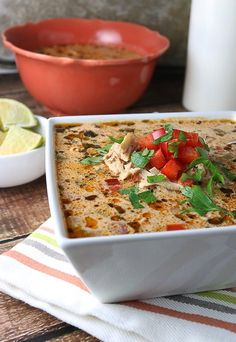 All the fantastic flavors of an enchilada made into a warm, hearty, and delicious low carb, keto soup! Shared via www. Ketogenic Recipes, Low Carb Recipes, Soup Recipes, Diet Recipes, Cooking Recipes, Healthy Recipes, Ketogenic Diet, Healthy Soups, Lchf Diet