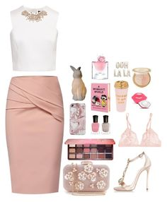 """""""Untitled #75"""" by peachgirl-style ❤ liked on Polyvore featuring WtR, Ted Baker, Dsquared2, Deborah Lippmann, Too Faced Cosmetics, All the Rages, La Perla, Olympia Le-Tan, Charlotte Russe and Lancôme"""