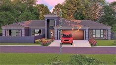 4 Bedroom House Plan – My Building Plans South Africa Round House Plans, My House Plans, My Building, Building Plans, House Plans South Africa, 5 Bedroom House Plans, House Construction Plan, Home Design Floor Plans, My Dream Home