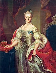Queen Sophie-Magdalene of Denmark, nee Brandenburg-Kulmbach by Andreas Bruniche