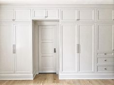 Cabinets over the hallway