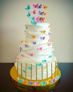 Ruffle birthday cake Butterfly......