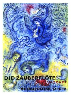 The Magic Flute Giclee Print by Marc Chagall at Art.com