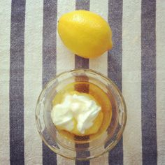 DIY Yogurt, Honey  Lemon Mask - great exfoliator  redness reducer