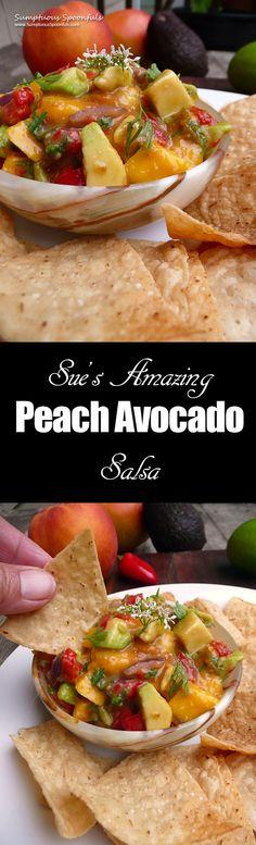 Sue's Amazing Peach Avocado Salsa ~ #easy #fruit #avocado #salsa #recipe