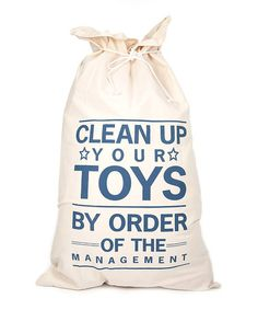 Look what I found on #zulily! 'Clean Up Your Toys' Bag #zulilyfinds