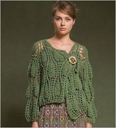 Ravelry: Calypso Lace Jacket pattern by Teva Durham