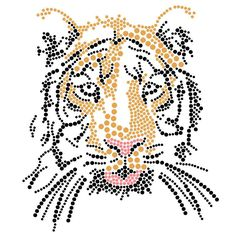 Tijger   Tijgers, Leeuwen, Luipaard, Cheetah   glittermotifs