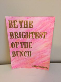 Lilly Pulitzer Quote Watercolor Painting $20 on Etsy Moderngirldecals