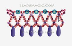 """Necklace """"Snow White"""" - Free seed bead pattern"""