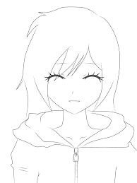 Anime Girl Lineart By Lynfan On DeviantArt Lineart Anime, Deviantart, Female, Drawings, Simple Girl, Sketches, Drawing, Portrait, Draw