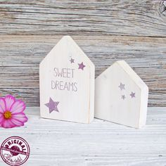 """Deko-Objekte - Häuschen-Set """"Sweet Dreams"""" im skandinav. Stil - ein Designerstück von Elfenwinkel bei DaWanda"""