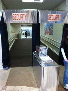 Entrance security checkpoint even if we only have room for signs hanging saying securiy Secret Agent Party, Spy Birthday Parties, Detective Party, Mission Possible, Spy Kids, Kids Camp, Vbs Themes, Holiday Club, Vbs 2016