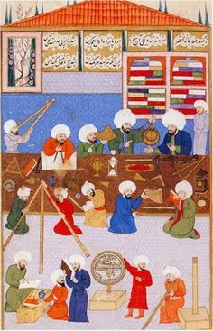 Astronomy in medieval Islam - Wikipedia, the free encyclopedia Islam And Science, Science Art, Islamic World, Islamic Art, House Of Wisdom, Turkey History, Tarot, Turkish Art, Ottoman Empire
