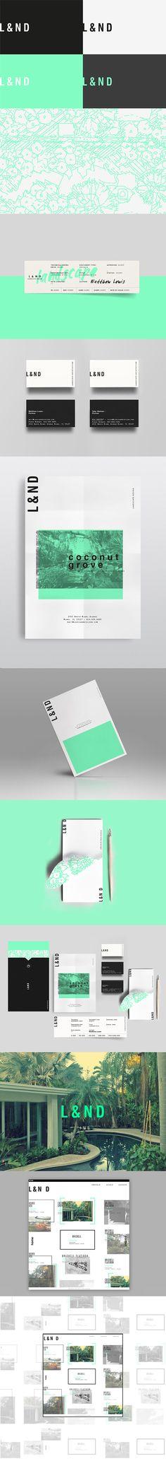 Lewis&Nielsen /Mint & Black ///Branding, Graphic Design on Behance Brand Identity Design, Graphic Design Branding, Corporate Design, Typography Design, Corporate Identity, Identity Branding, Brand Design, Brochure Design, Web Design