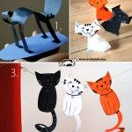 Three cats' stories in paper