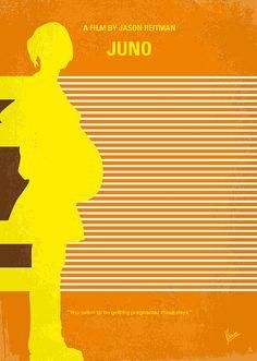 No326 My Juno Minimal Movie Poster by Chungkong Art
