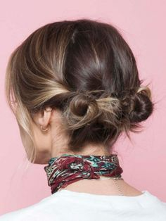 Double Mini Buns - Hairstyles for Girls Who Can't Style Their Hair - Photos