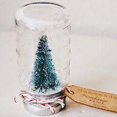 Mason Jar Snow Globes :)