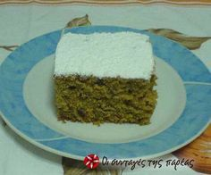 Greek Sweets, Greek Desserts, Greek Recipes, Desert Recipes, Vegan Desserts, Cooking Cake, Cooking Recipes, Greek Cake, Meals Without Meat