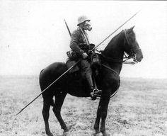 German soldier on horseback, WW1
