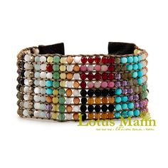 Multi-colored spring and summer 10 up knitted genuine leather buckle bracelet classic