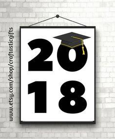 2018 Graduation Printable 8 x 10 Printable Wall Decor Instant Download. #graduation #2018graduation #graduationprintable #graduationpartydecor #graduationparty