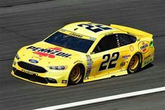 Kobalt 400 (Vegas) March 2017 Joey Logano will start sixth in the No. Nascar Race Cars, Joey Logano, Bank Of America, Chevrolet, Ford, Vehicles, Paint Schemes, Photo Galleries, Sprint Cup
