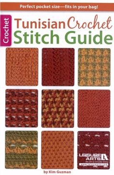 With this handy and portable reference guide from Kim Guzman, you can choose from 61 pattern stitches to add texture and beauty to your Tunisian Crochet project