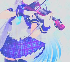 winkycat:  Anime Girl Playing The Violin on We Heart It. http://weheartit.com/entry/89064079