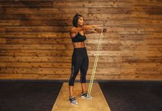 9. Unilateral Squat #greatist https://greatist.com/fitness/resistance-band-core-exercises-massy-arias