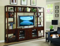 Hooker Danforth Wall Group with 56-inch Console HO-388-70-111 $3143.80