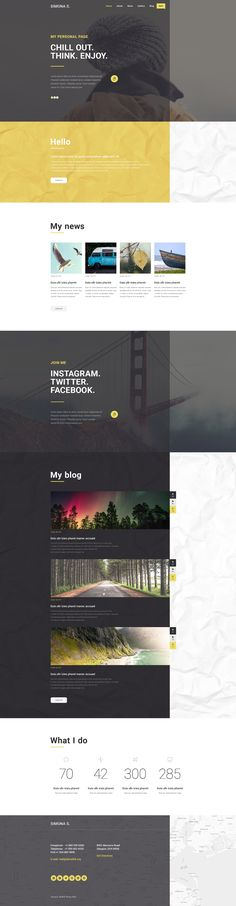 Coming soon: Personal Page WordPress Theme. Check Out its release:  http://www.templatemonster.com/?utm_source=pinterest&utm_medium=timeline&utm_campaign=comsoon