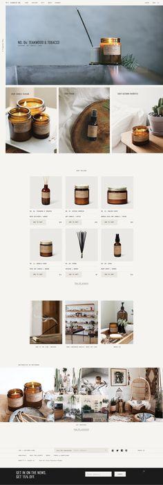 P.F. Candle Co. –Branding, Website — Julia Kostreva