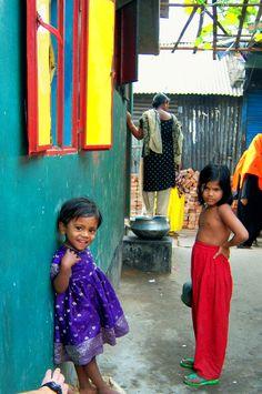 the cutest little girl in Bangladesh (slums in Dhaka)
