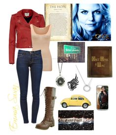 """Emma Swan- Once Upon A Time"" by lennyroo ❤ liked on Polyvore featuring Once Upon a Time, IRO, American Vintage, Frame Denim and Boucheron"