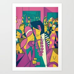 Elvis art print by Ale Giorgini, $17.60. https://society6.com/product/elvis-dh6_print?curator=bestreeartdesigns