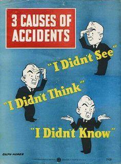 Afbeelding: 3 grote oorzaken van ongelukken. #safetyfirst