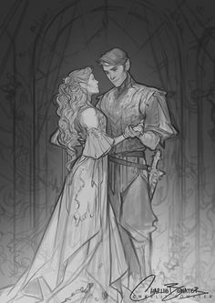 Rhysand Feyre A Court of Mist and Fury- by Sarah J Maas charlie bowater sketch A Court Of Wings And Ruin, A Court Of Mist And Fury, Character Inspiration, Character Art, Character Design, Fantasy Magic, Fantasy Art, Book Characters, Fantasy Characters